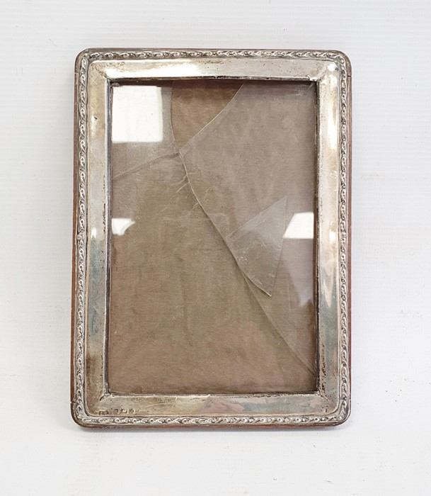 1940's silver-mounted rectangular picture frame, relief decorated to edge, Birmingham 1944, maker'