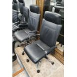 Two Dauphin office swivel chairs(2)