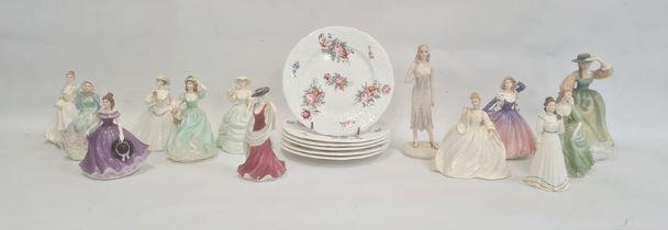 Ten Coalport china figures'Gwen', 'Carla', 'Jennifer', 'Pamela', 'Emma Louise', 'Bonny Lass', '