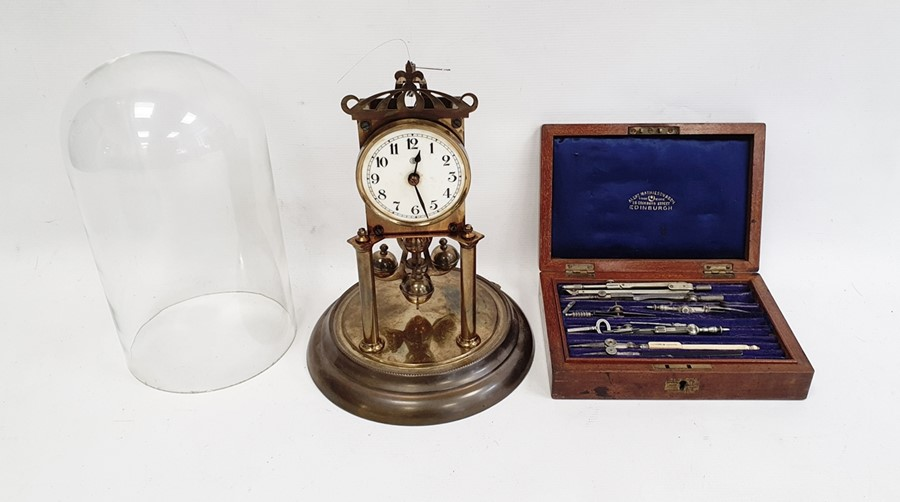 Anniversary clockin glass dome and a draughtsmans set (2) - Image 5 of 9