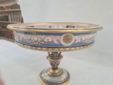 19th century Sevres porcelain presentation tazza or 'Coupe Cybele' for the Paris Exposition 1878,