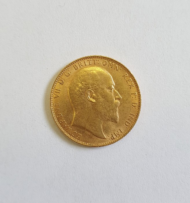 Edwardian gold sovereign dated 1910 - Image 2 of 2