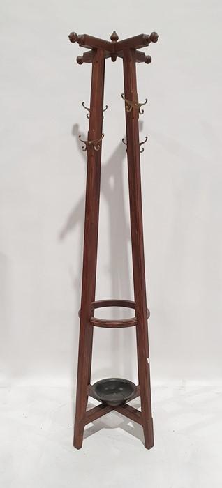 Hat, coat and umbrella standin Eastern hardwood, 188cm high