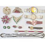 Lady's gilt metal Raymond Weill strapwatch, a gentleman's Seiko stainless steel bracelet watch,