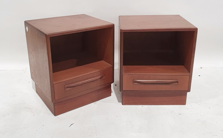 20th century teak G-Plan 'Fresco' bedroom suiteto include dressing table, a wardrobe, two bedside - Image 3 of 4
