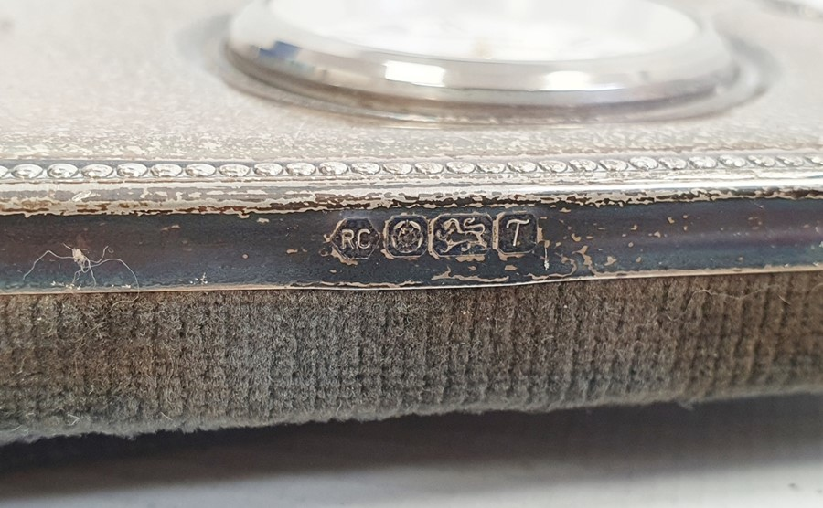 Silver cigarette boxby Abrahams Bros, Birmingham 1927 of rectangular form with engine-turned - Image 3 of 5
