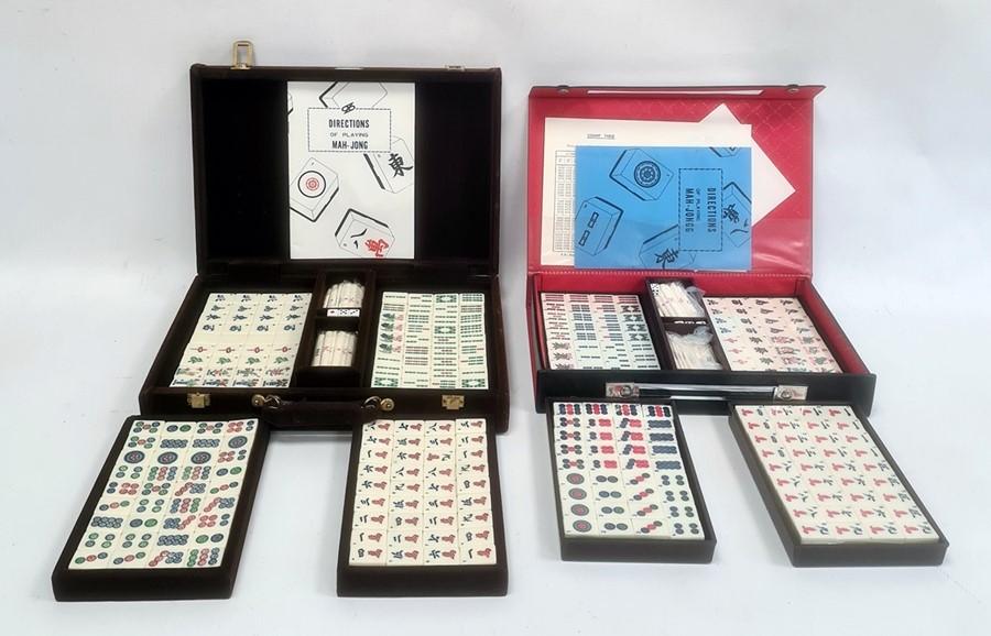 Two boxed Mahjong sets