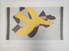After Georges Braque 'L'Oiseau et son ombre II', Bird and his shadow print edition Hazan Paris 1989