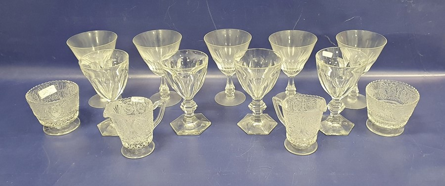Amethyst glass vasewith internal bubble decoration and a collection of assorted cut glasswareto