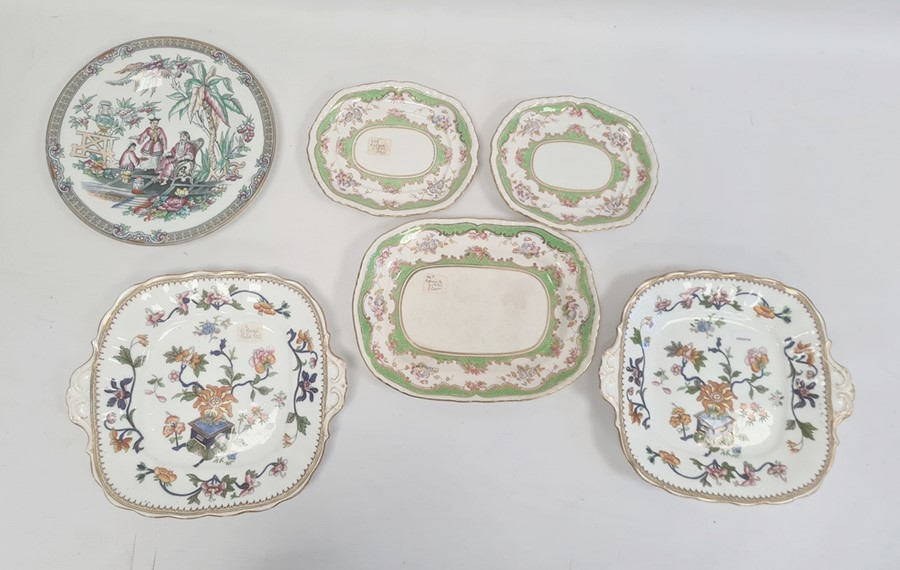 Collection of Staffordshire ironstone pottery and porcelain, early to late 19th century, printed and - Image 3 of 4