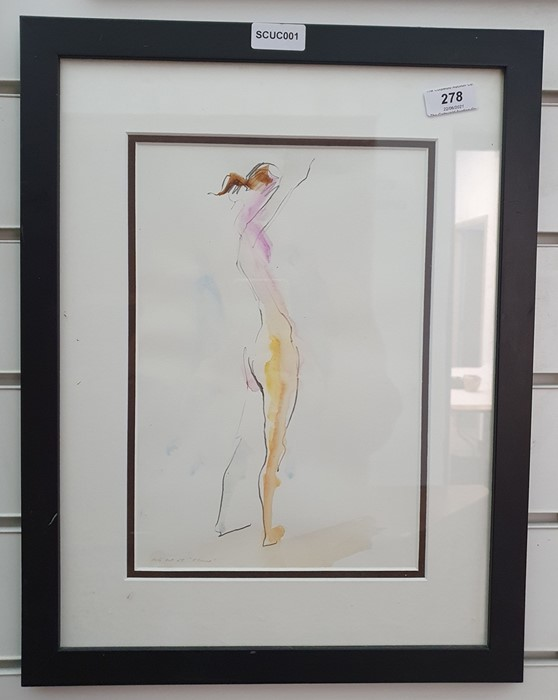 """Richard O'Connell British 21st century Pencil and coloured wash """"Elaine"""", titled and dated in - Image 2 of 8"""