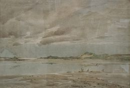 Oswald Garside (1879-1942) Watercolours Pair of coastal scenes one with birds in the foreground