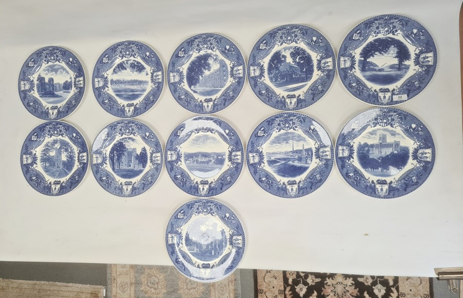 11 Wedgwood US Military Academy West Point, New York 'From US to New York' pottery plates, views - Image 3 of 6