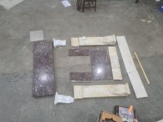 Marble fire surround(in pieces)