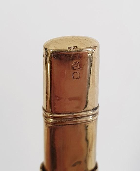 Aspray 18ct gold pencil caseof plain rectangular form with presentation inscription, 8cm long (with - Image 5 of 5