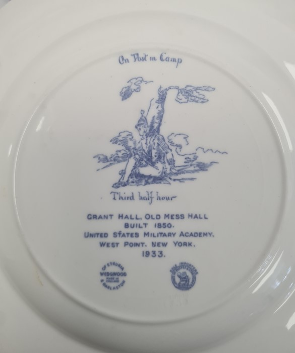 11 Wedgwood US Military Academy West Point, New York 'From US to New York' pottery plates, views - Image 4 of 6