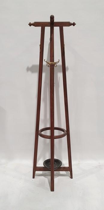 Hat, coat and umbrella standin Eastern hardwood, 188cm high - Image 2 of 2