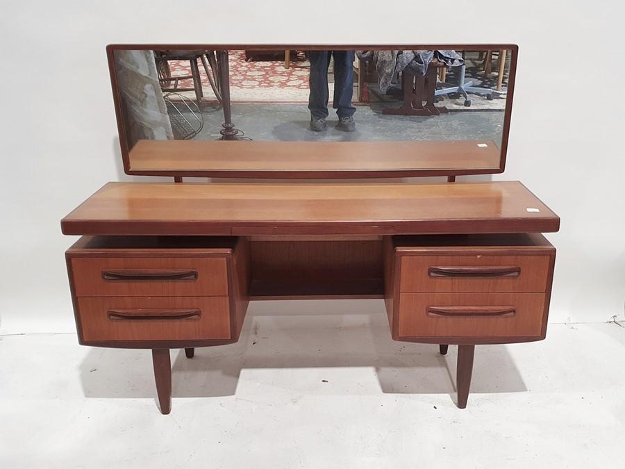 20th century teak G-Plan 'Fresco' bedroom suiteto include dressing table, a wardrobe, two bedside