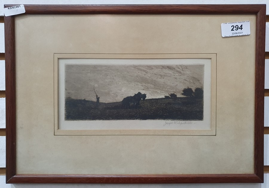 """After Alfred Dawson (1843 - 1931, c Etching """"Country houses, trees, cows"""", signed in pencil lower - Image 11 of 11"""