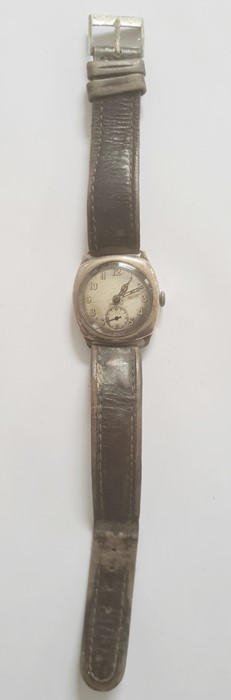 20th century Crusader silver-coloured metal wristwatchwith subsidiary seconds dial - Image 2 of 2