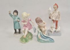 Royal Worcester figures'March' 3454, 'November' 3418, 'February' 3453 and 'August' 3441 (4)