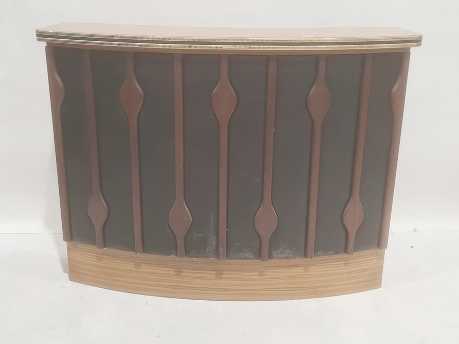 20th century home barwith melamine top, vinyl front, 126cm x 96cm