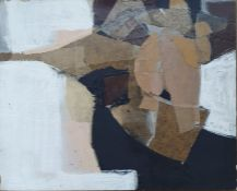 Reg Miller - 20th century Mixed media Collage and abstract composition, 24 x 30cm, mounted on