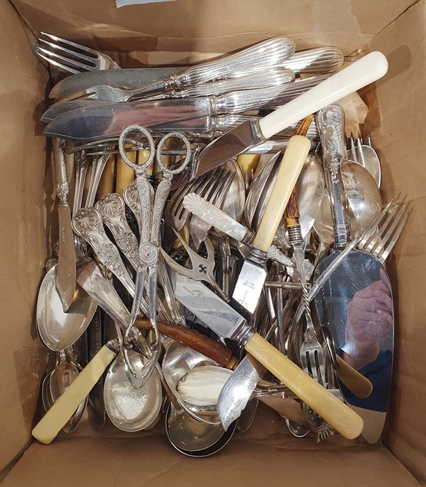 Quantity of silver plated flatwareto include flatware marked 'Dixon', fish servers and other - Image 2 of 2