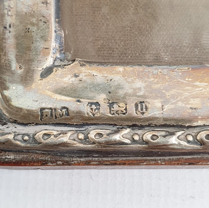1940's silver-mounted rectangular picture frame, relief decorated to edge, Birmingham 1944, maker' - Image 2 of 2