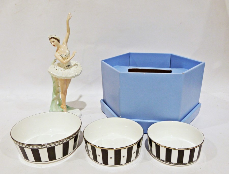Boxed set of three Wedgwood bowls of black and white striped decoration, various other Wedgwood - Image 11 of 14