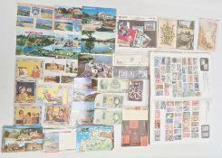 Large quantity of ephemerato include postcards, viz: topographical, humorous etc., album of stamps,