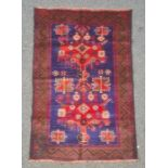 Old Baluchi rug, 125cm x 85cm