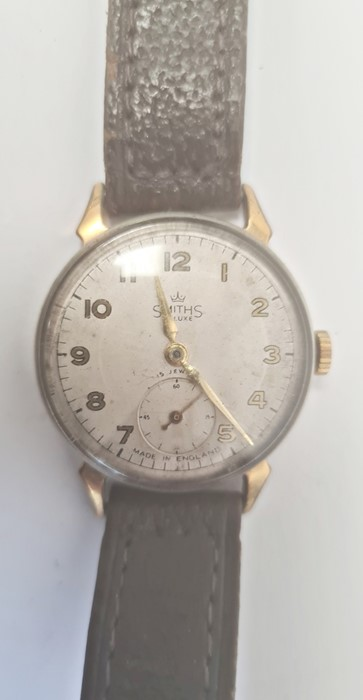 Smiths Deluxe gentleman's gilt metal strap watchwith subsidiary seconds dial, a silver open faced - Image 4 of 10
