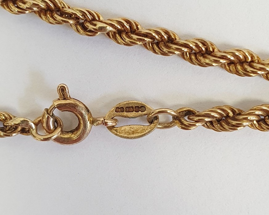 9ct gold chain link bracelet, 2g approx. and a 9ct gold twist chain link necklace, 3g approx. - Image 3 of 3