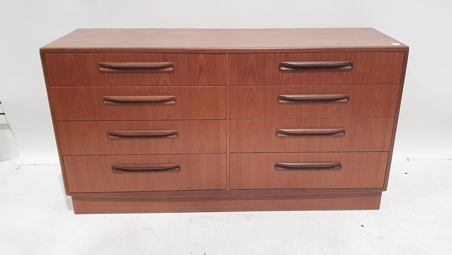 20th century teak G-Plan 'Fresco' bedroom suiteto include dressing table, a wardrobe, two bedside - Image 4 of 4