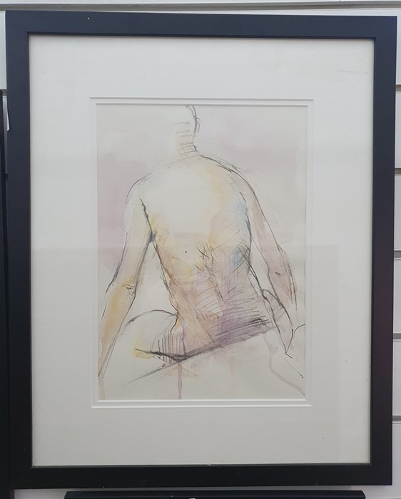 """Richard O'Connell British 21st century Pencil and coloured wash """"Elaine"""", titled and dated in - Image 5 of 8"""