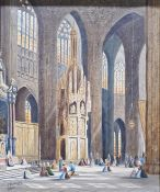Thomas Matthew Rooke R.W.S. (British, 1842-1942) Oil on canvas 'St. Pierre, Louvain, Belgium'