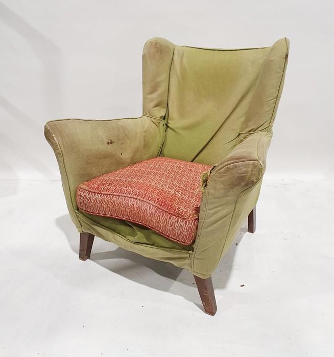 Mid-century modern wing back armchair