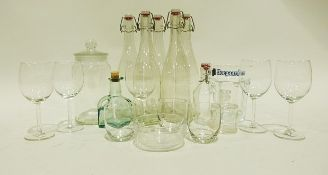 Quantity of white tableware, two boxes of glassware including drinking glasses and other items