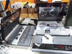 Bang and Olufsen Beocenter 4000 tape deck, a Bang andOlufsen Beogram CDX and a Bang and Olufsen