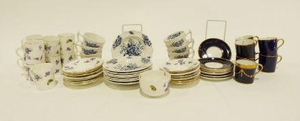 Hammersley & Co. part coffee set decorated with violets, assorted Wedgwood jasperware and various