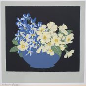 """Joe Liddell Signed print """"Yellow Roses"""", signed and dated '87, 29 x 30cm, another and three other"""