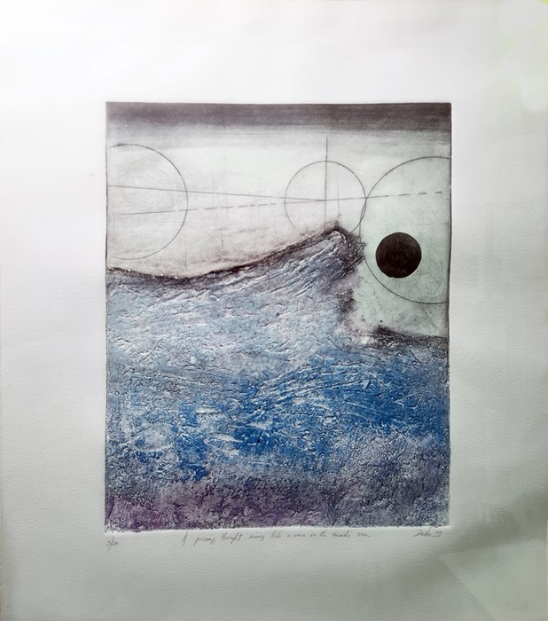 """Devoc (20th century school) Limited edition print """"A Passing Thought Like a Wave on the Mind Sea"""","""