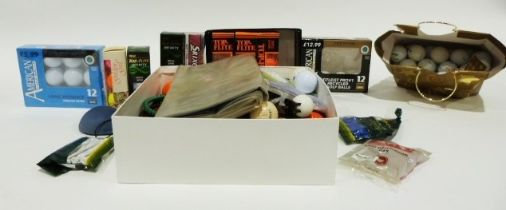 Quantity of loose and boxed golf balls
