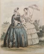 Set of six French costume engravings after Jules David (6)