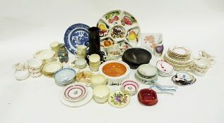 Williams & Humbert sherry advertising bowl and various other ceramics including Leeds pottery,