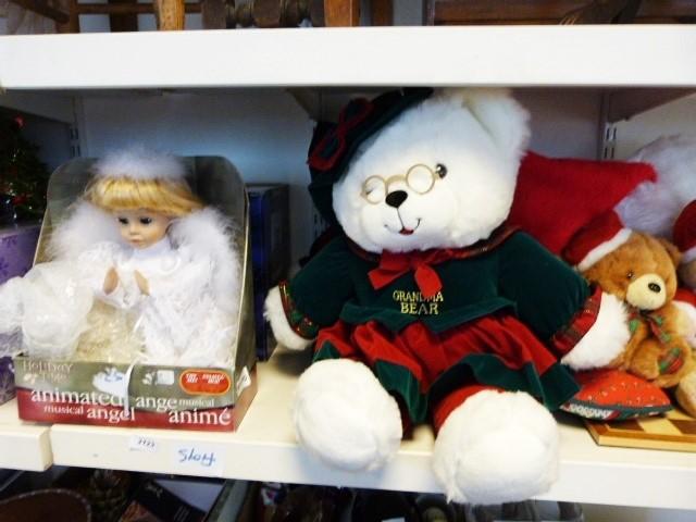 Various Christmas teddy bears, musical Christmas globe, Christmas animated figureand other - Image 2 of 2