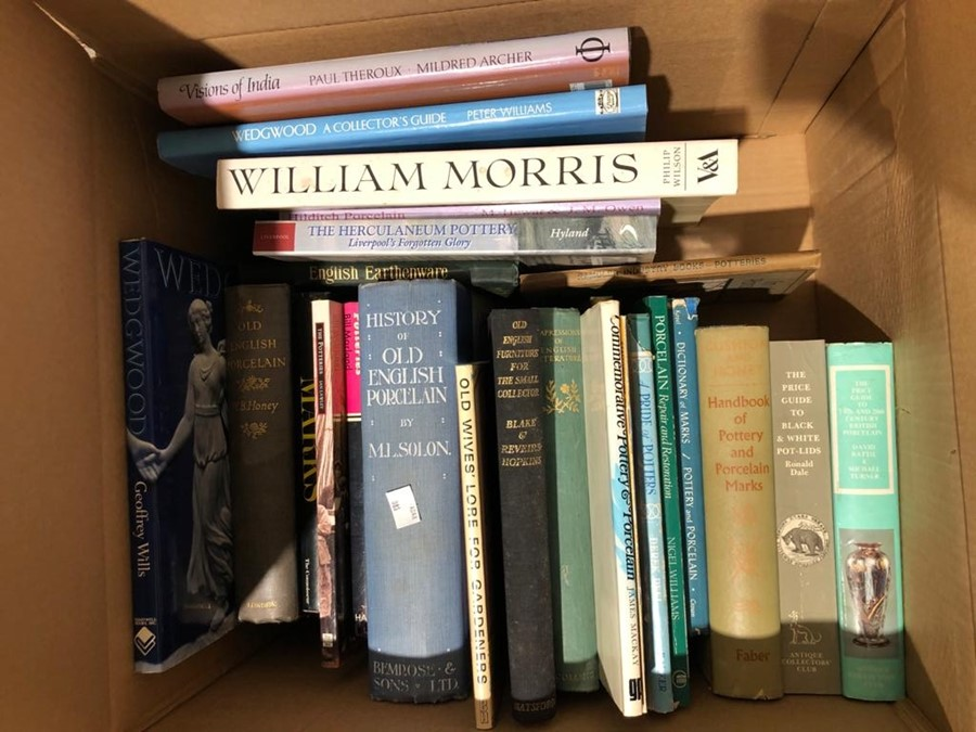 "Various volumes on collecting to include ""Pottery and Porcelain"", William Morris, ""Visions of"
