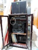 Technics music station comprising stereo tuner, stereo intergrated amplifier, CD player, stereo