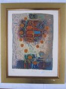 """David Dodsworth 20th century mixed media limited edition """"Pico III"""", signed indistinctly to the"""